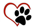 dog paw broken heart